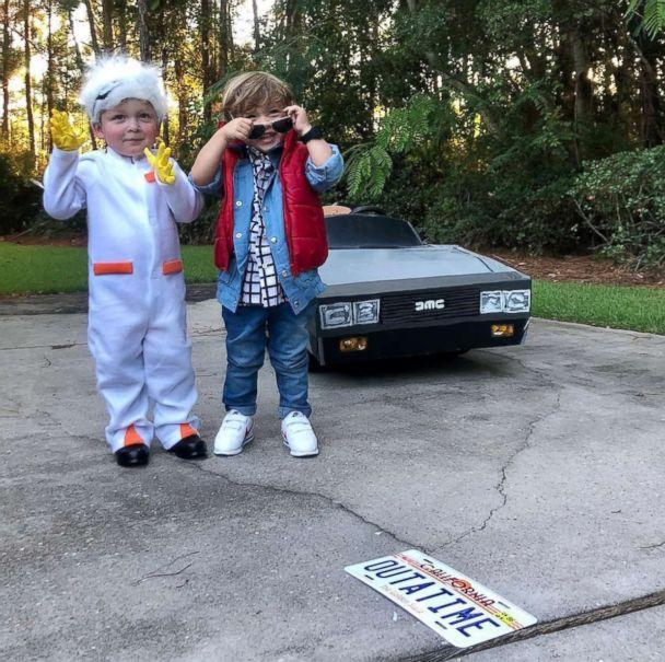 PHOTO: Mom Lauren Willis put together the creative looks of characters Marty McFly and Doc from the film, 'Back to the Future,' for her 2-year-old twins. (Lauren Wills)