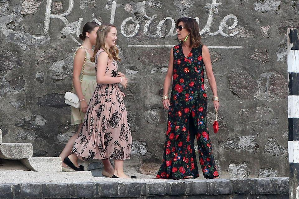 <p>For one of Princess Caroline's Mother of the Groom looks for Pierre Casiraghi and Beatrice Borromeo's wedding celebration weekend in Italy in 2015, she chose this sweeping floral jumpsuit.</p>