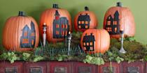 "<p>It's no secret that we love a good carved pumpkin for Halloween. But forget the same old <a href=""https://www.countryliving.com/diy-crafts/g1350/pumpkin-decorating-1009/"" rel=""nofollow noopener"" target=""_blank"" data-ylk=""slk:pumpkin decorating ideas"" class=""link rapid-noclick-resp"">pumpkin decorating ideas</a> you've been doing year after year and take a zombie crawl to the spookier side. Mix up your <a href=""https://www.countryliving.com/diy-crafts/how-to/g1024/do-it-yourself-halloween-decorations-1010/"" rel=""nofollow noopener"" target=""_blank"" data-ylk=""slk:DIY Halloween decorations"" class=""link rapid-noclick-resp"">DIY Halloween decorations</a> with an easy idea from our roundup that's full of inspirational designs that are so much cooler than the standard, grinning jack-o'-lantern. <br></p><p>Spend a weekend with the kids making a boo-tiful pumpkin marquee, a Mason jar-inspired pumpkin, or pumpkin lanterns that'll help light the way for future trick-or-treaters. Or, rather than an expected orange display, gray, white, terrazzo, or even plaid carved creations make for much more creative <a href=""https://www.countryliving.com/home-design/decorating-ideas/g2621/fall-porch-decorating/"" rel=""nofollow noopener"" target=""_blank"" data-ylk=""slk:fall porch decorations"" class=""link rapid-noclick-resp"">fall porch decorations</a>. Another idea? Put your pumpkins to good use this year around the house in a purely genius new way, like as a DIY ice bucket, candy jar, pumpkin purse, or terrarium. </p><p>There are plenty of ideas for beginners in this roundup, so no matter your skill level, you're guaranteed to have the best-looking creation on the block. You've never seen pumpkins like this before, and each project is just as scary (or sweet) as the next. Happy haunting and carving!<br></p>"
