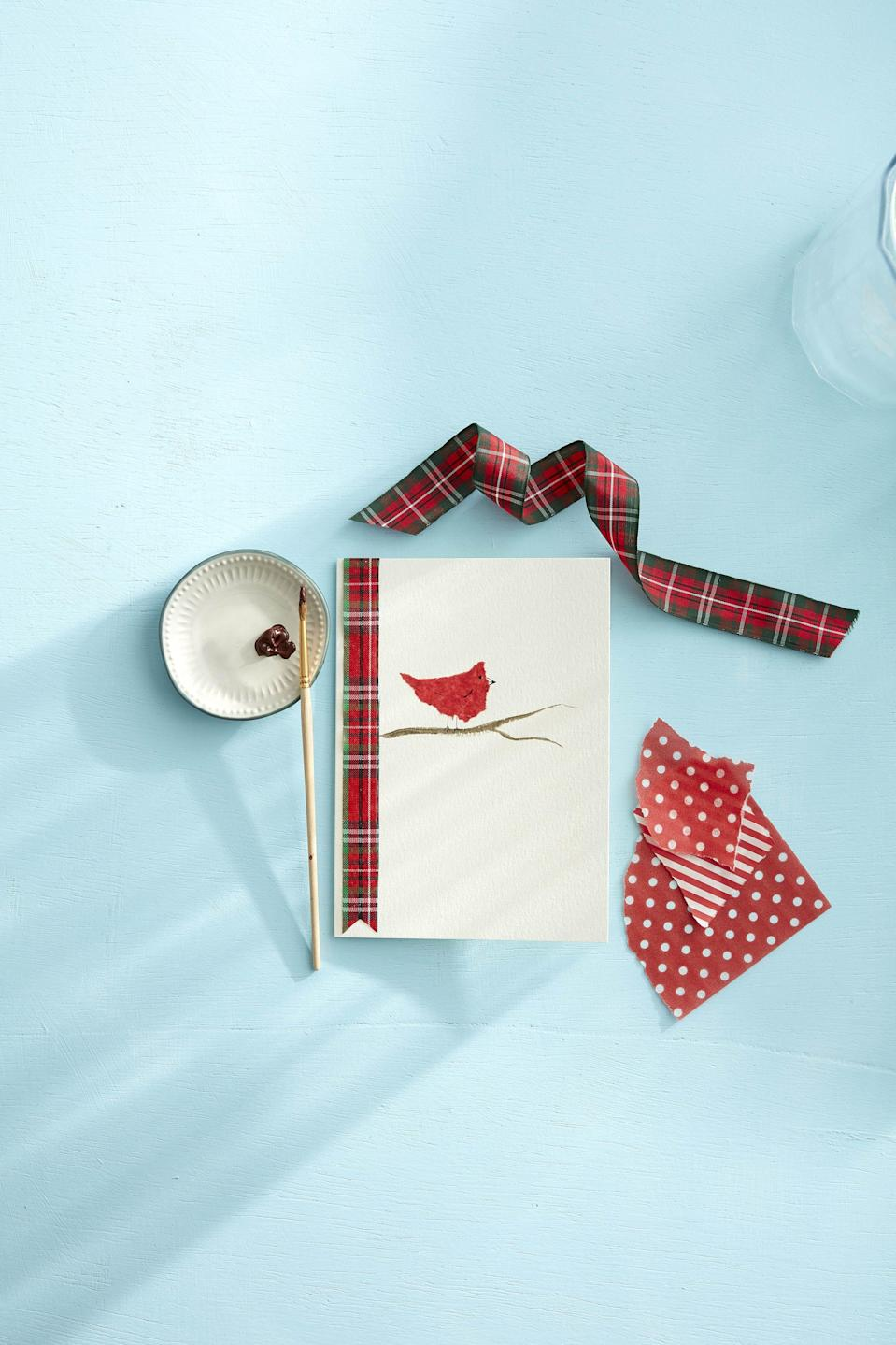 """<p>Looking for DIY Christmas card ideas? We've rounded up our all-time favorite pretty, funny, and crafty card ideas. Each comes with easy-to-follow instructions and tutorials so crafting will be a cinch. These DIY Christmas cards are so simple to craft and take very little time to throw together making them loads of fun to share with friends and family. Want to go the extra mile? Make a <a href=""""https://www.countryliving.com/diy-crafts/tips/g645/crafty-christmas-presents-ideas/"""" rel=""""nofollow noopener"""" target=""""_blank"""" data-ylk=""""slk:DIY Christmas gift"""" class=""""link rapid-noclick-resp"""">DIY Christmas gift</a>, too. Believe it or not, some of the cards we've included here can be whipped up in a matter of minutes, so you can spend more time on decorating your tree! </p><p>Still, as easy as the crafting process is, you can be certain that every ounce of extra effort you put into these cards is sure to be appreciated by all their recipients. After all, a handmade Christmas card signals to its reader that you put time (even if it isn't a lot), thought, and care into its creation and it ultimately reminds them just how much you care. Whether it accompanies a sweet-smelling, freshly baked <a href=""""https://www.countryliving.com/food-drinks/g1059/homemade-food-gifts/"""" rel=""""nofollow noopener"""" target=""""_blank"""" data-ylk=""""slk:Christmas food gift"""" class=""""link rapid-noclick-resp"""">Christmas food gift</a> or dangles off of an equally special homemade ornament, your <a href=""""https://www.countryliving.com/diy-crafts/how-to/g903/holiday-craft-projects-1209/"""" rel=""""nofollow noopener"""" target=""""_blank"""" data-ylk=""""slk:holiday craft project"""" class=""""link rapid-noclick-resp"""">holiday craft project</a> <em>will </em>get noticed. </p><p>And of course, you don't need to DIY every element of your Christmas gifts. Even a store-bought <a href=""""https://www.countryliving.com/shopping/gifts/g1542/christmas-gifts-for-mom/"""" rel=""""nofollow noopener"""" target=""""_blank"""" data-ylk=""""slk:Christmas gift for Mom"""" class=""""lin"""