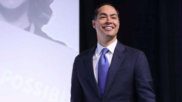 PHOTO: Democratic presidential candidate and former housing secretary Julian Castro takes the stage during an event in Washington, D.C., Oct. 28, 2019. (Chip Somodevilla/Getty Images, FILE)