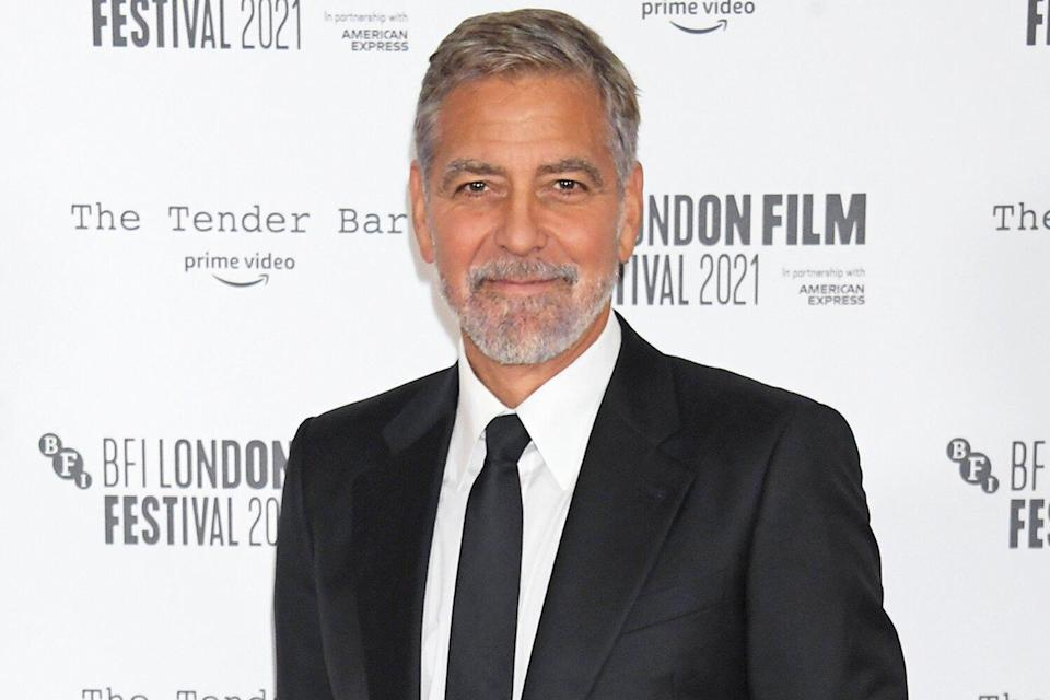 """George Clooney attends the Premiere of """"The Tender Bar"""" during the 65th BFI London Film Festival at The Royal Festival Hall on October 10, 2021 in London, England."""