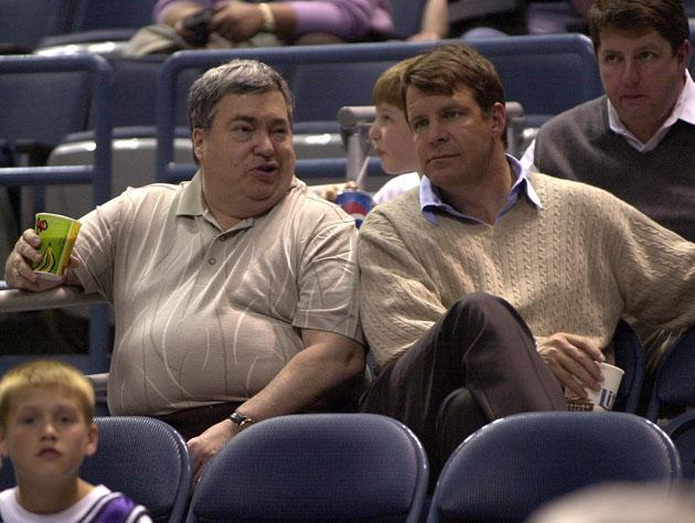 Jerry Krause and Tim Floyd. (Getty Images)