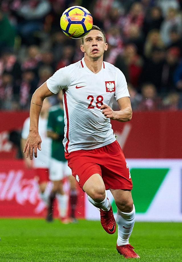 Soccer Football - International Friendly - Poland vs Mexico - Energa Stadium, Gdansk, Poland - November 13, 2017 Poland's Jakub Swierczok in action Agencja Gazeta/Jan Rusek via REUTERS POLAND OUT. NO COMMERCIAL OR EDITORIAL SALES IN POLAND THIS IMAGE HAS BEEN SUPPLIED BY A THIRD PARTY.