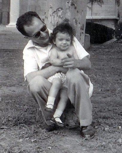 The author and her dad, on the last day they saw her mother. (Photo Courtesy of B.K. Jackson)