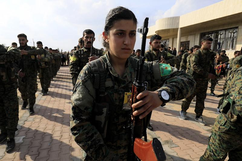 Kurdish fighters form the bulk of the US-backed Syrian Democratic Forces in the fight against Islamic State jihadists