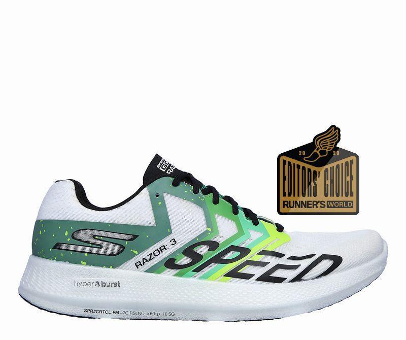 """<p><strong>Skechers</strong></p><p>zappos.com</p><p><strong>$90.00</strong></p><p><a href=""""https://go.redirectingat.com?id=74968X1596630&url=https%3A%2F%2Fwww.zappos.com%2Fp%2Fskechers-go-run-razor-3-white-green%2Fproduct%2F9369982&sref=https%3A%2F%2Fwww.runnersworld.com%2Fgear%2Fg33624556%2Fzappos-vip-sale-running-shoes%2F"""" rel=""""nofollow noopener"""" target=""""_blank"""" data-ylk=""""slk:Shop Now"""" class=""""link rapid-noclick-resp"""">Shop Now</a></p><p><strong>Originally $130</strong></p><p><a class=""""link rapid-noclick-resp"""" href=""""https://go.redirectingat.com?id=74968X1596630&url=https%3A%2F%2Fwww.zappos.com%2Fp%2Fskechers-go-run-razor-3-red-orange%2Fproduct%2F9369982%2Fcolor%2F30131&sref=https%3A%2F%2Fwww.runnersworld.com%2Fgear%2Fg33624556%2Fzappos-vip-sale-running-shoes%2F"""" rel=""""nofollow noopener"""" target=""""_blank"""" data-ylk=""""slk:Buy Unisex"""">Buy Unisex</a></p><p>Released in 2018, the Razor 3 is an oldie-but-goodie. Fast and firm HyperBurst foam comes alive at a clip for knocking out tempos and speedy intervals.</p><p><a class=""""link rapid-noclick-resp"""" href=""""https://www.runnersworld.com/gear/a25641956/skechers-gorun-razor-3-hyper-review/"""" rel=""""nofollow noopener"""" target=""""_blank"""" data-ylk=""""slk:Read Review"""">Read Review</a></p>"""
