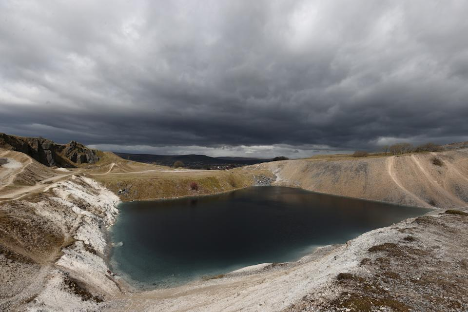 General view of Blue Lagoon of Buxton as the spread of the coronavirus disease (COVID-19) continues, Buxton, Britain, March 28, 2020. REUTERS/Carl Recine