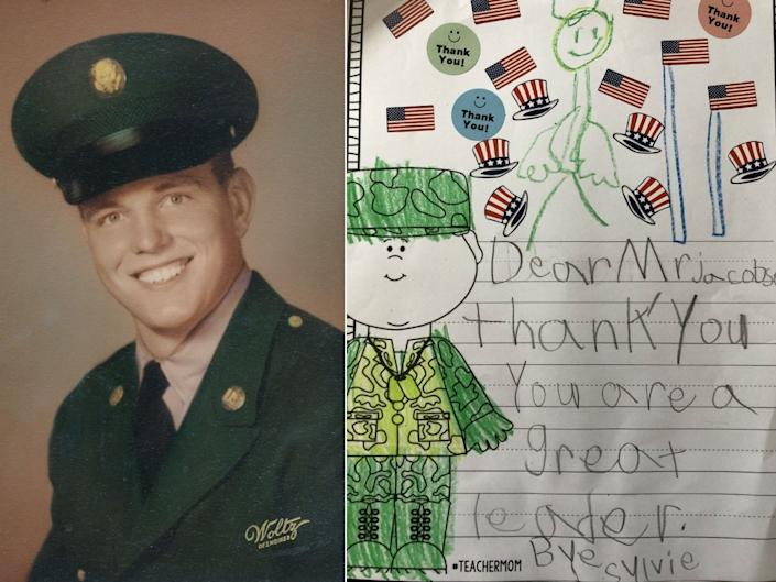 The late U.S. Army Sgt. Jerry Glenn Forsyth inspired his daughter to continue his tradition of sending handwritten cards to a list of veterans ahead of Veterans Day. (Courtesy Katy Kennedy)