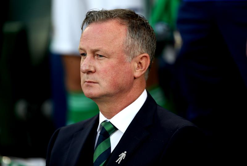 Northern Ireland's manager Michael O'Neill during the UEFA Euro 2020 qualifying group C match at Windsor Park, Belfast. (Photo by Liam McBurney/PA Images via Getty Images)