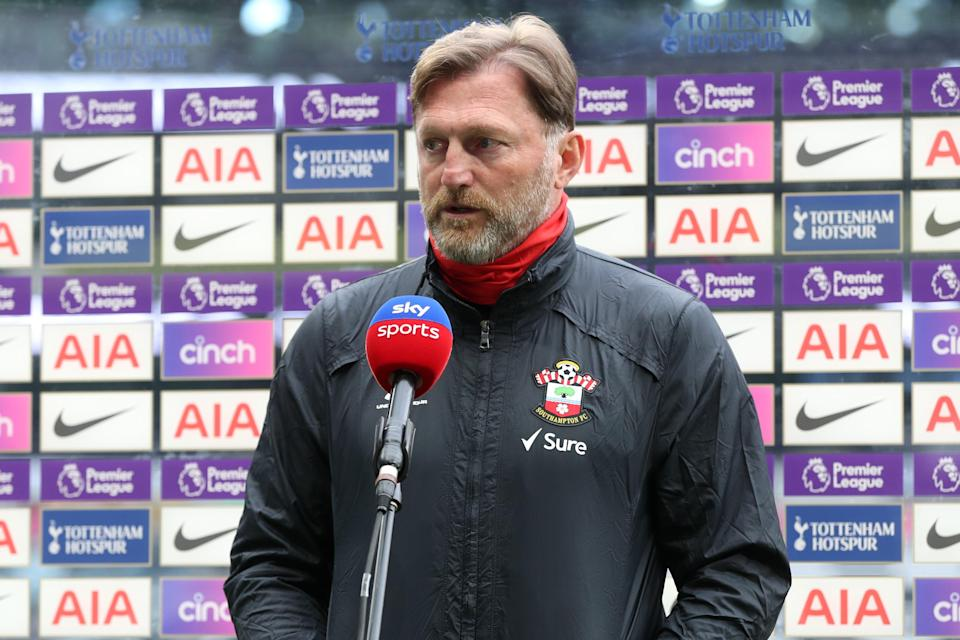 Ralph Hasenhuettl will want to cement his team away from relegation (Tottenham Hotspur FC via Getty I)