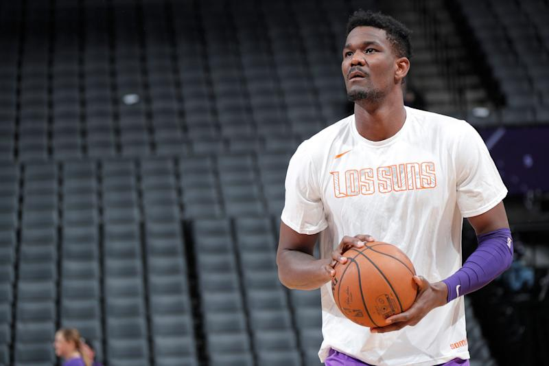 Deandre Ayton was the No. 1 pick in the 2018 draft and is currently a rookie for the Phoenix Suns. (Getty Images)