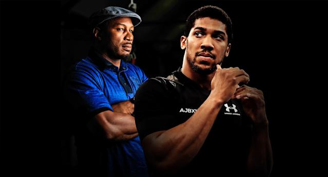 Lennox Lewis and Anthony Joshua. (Yahoo Sports illustration)