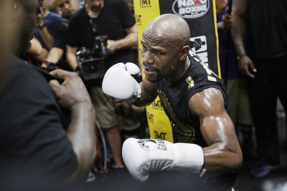 Floyd Mayweather is on the cusp of breaking yet another record for a one-day haul. (AP)
