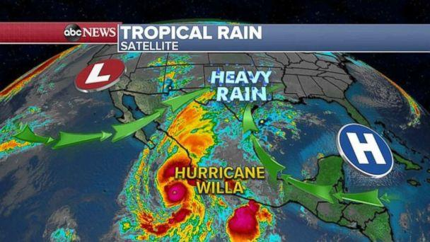 Hurricane Willa is bearing down on Mexico. (ABC News)