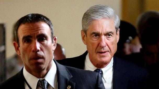 PHOTO: Special Counsel Robert Mueller, right, departs after briefing members of the U.S. Senate on his investigation into potential collusion between Russia and the Trump campaign on Capitol Hill in Washington, D.C., June 21, 2017. (Joshua Roberts/Reuters, FILE)
