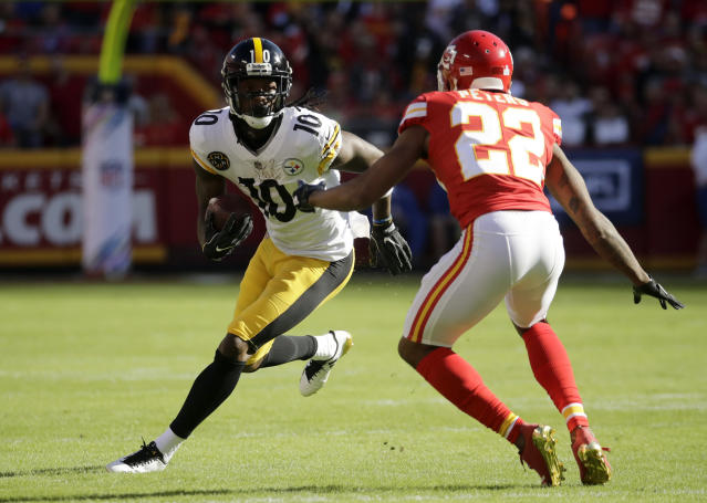 Martavis Bryant's time in Pittsburgh may be coming to an end if he gets what he wants. (AP Photo)