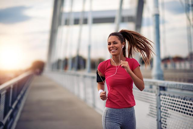 "Exercise releases ""feel good"" endorphins. [Photo: Getty]"