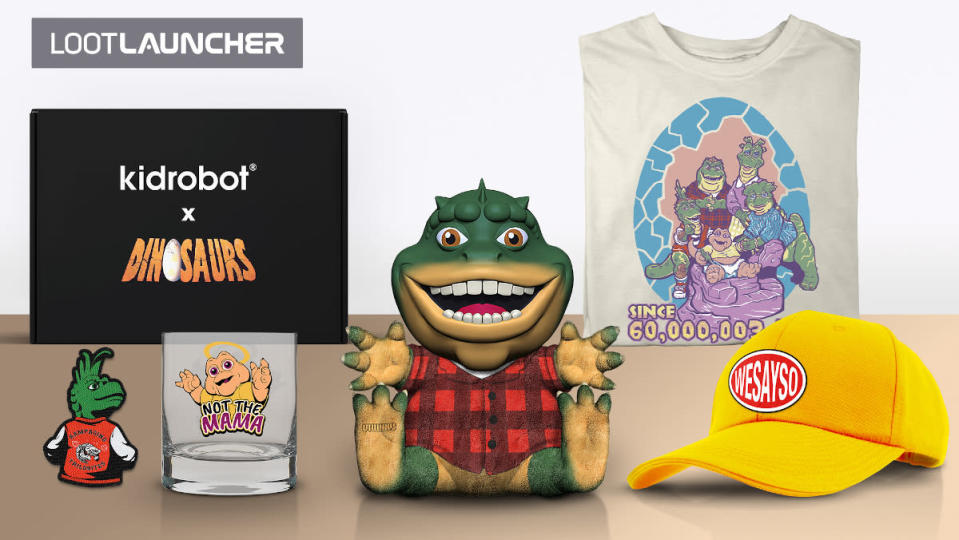 A collection of Dinosaurs merchandise