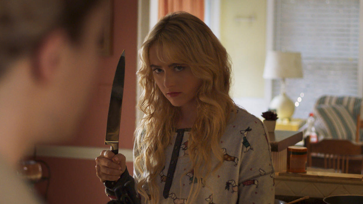 Kathryn Newton plays Millie in twisted slasher film 'Freaky'. (Universal Pictures)