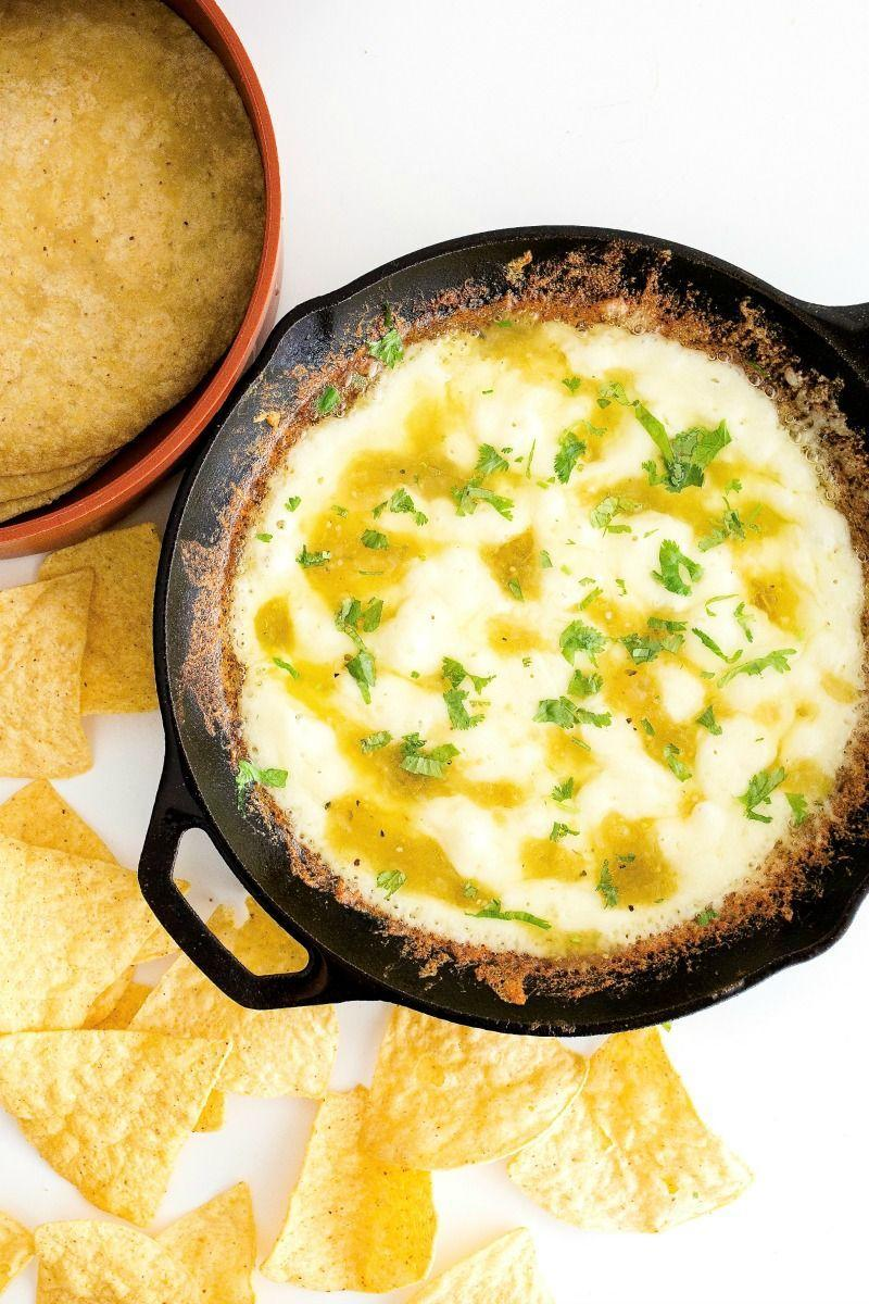"<p>It takes just three ingredients and five minutes to whip up this bubbly cheese.</p><p><strong>Get the recipe at <a href=""https://thebakermama.com/recipes/skillet-queso-fundido/"" rel=""nofollow noopener"" target=""_blank"" data-ylk=""slk:The Baker Mama"" class=""link rapid-noclick-resp"">The Baker Mama</a>.</strong></p>"
