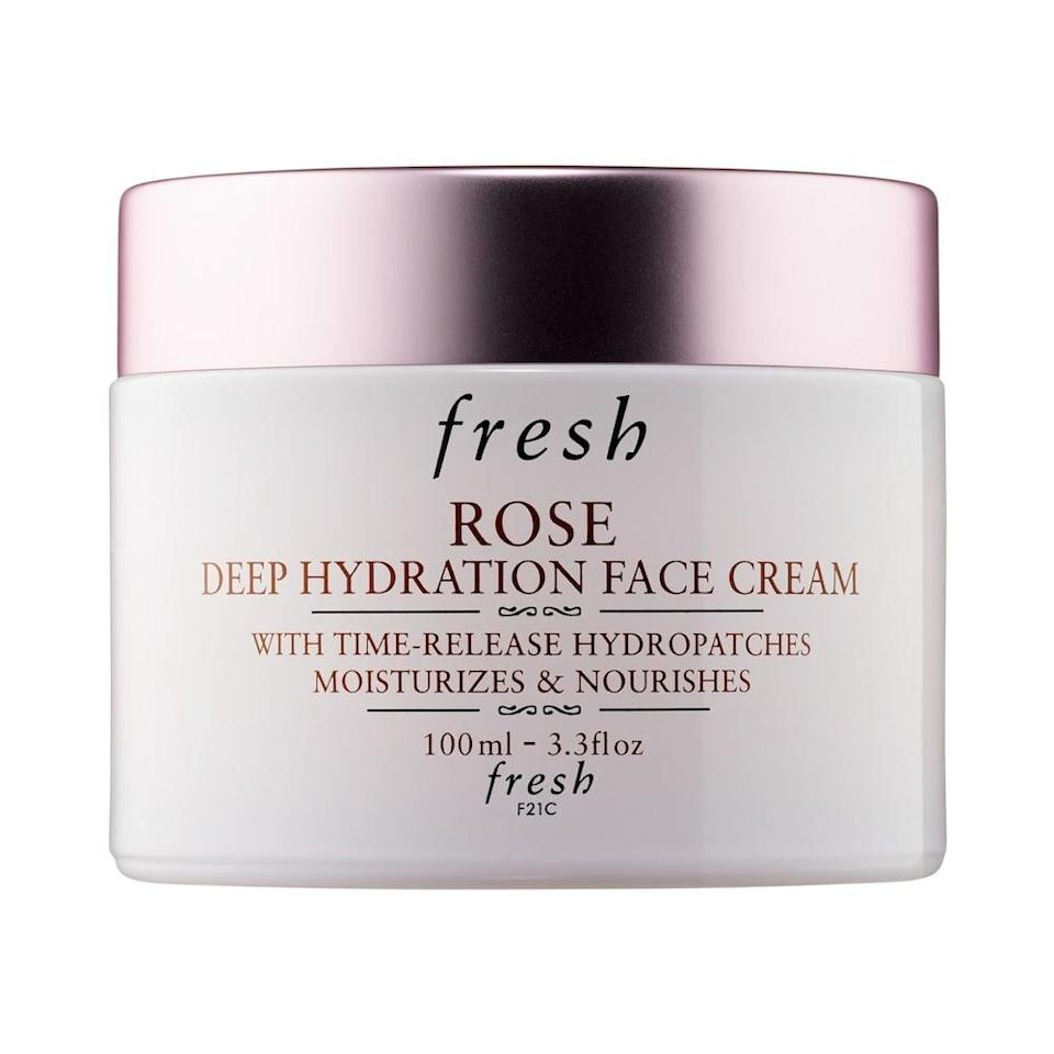<p>This beloved <span>Fresh Jumbo Rose & Hyaluronic Acid Deep Hydration Moisturizer</span> ($68) will be a permanent fixture on their vanities.</p>