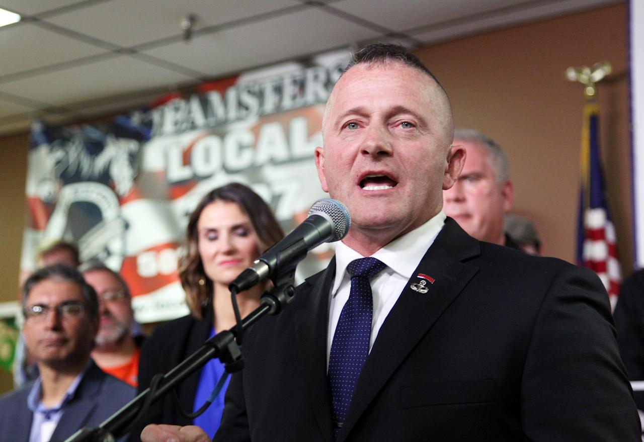 """Ojeda threw his hat into the ring for the presidency in November after losing his congressional candidacy bid in West Virginia.  A former Army paratrooper who resigned as a state Senator to focus on his campaign, Ojeda voted for Trump in 2016 but made it clear his opinions on the president had soured.  """"I think I relate to the people far more than what the president can ever relate to these people,"""" he said upon announcing his campaign. """"The very people he comes down to West Virginia and stands in front of could never afford one single round of gold in some of his fancy country clubs. That's not where I stand.""""  Ojeda, 48, eventually dropped out of the race in late January, writing in a <a href=""""https://www.facebook.com/1375193652713915/posts/2329884223911515/"""">statement</a> that he did not want to accept money from people for a campaign """"that does not have the ability to compete.  """"I want you to know that my fight does not end. I may not have the money to make the media pay attention, but I will continue raising my voice and highlighting the issues the working class, the sick and the elderly face in this nation,"""" he wrote."""