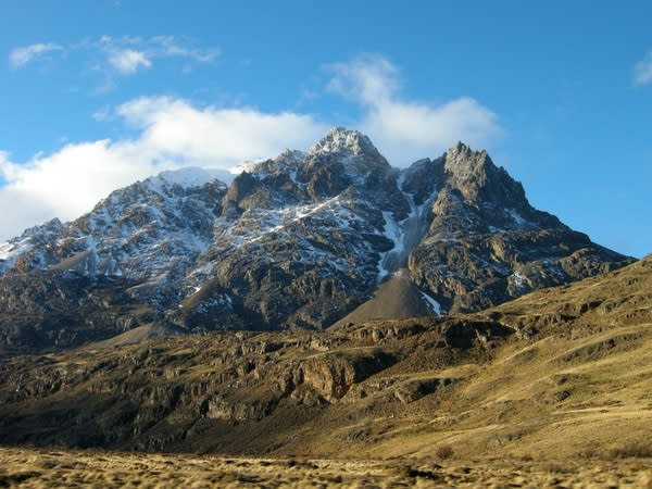A mountain toward the eastern edge of Patagonia's Chacabuco Valley.