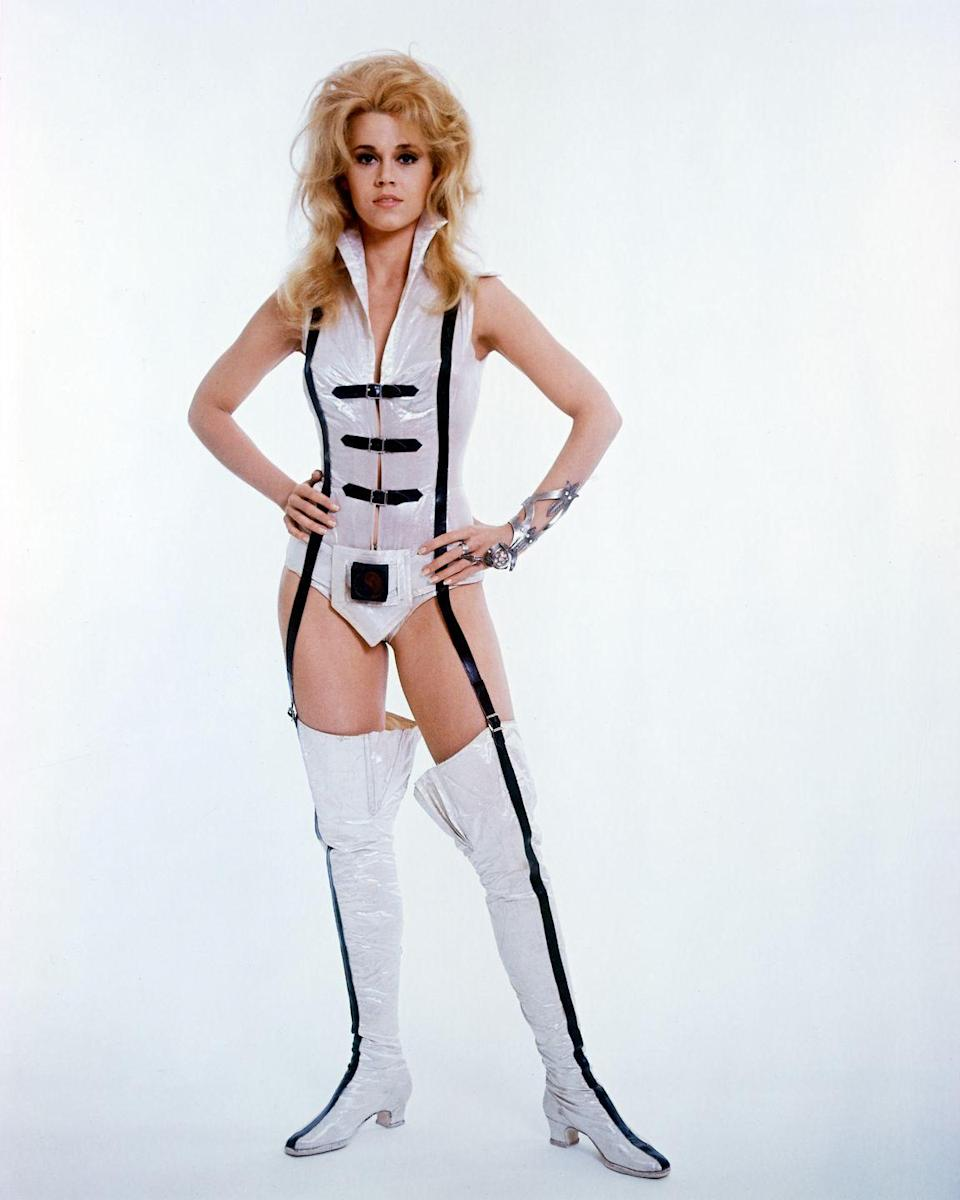 <p>This portrait of Jane Fonda was used to promote Roger Vadim's science fiction film <em>Barbarella</em>, which Fonda starred in. </p>