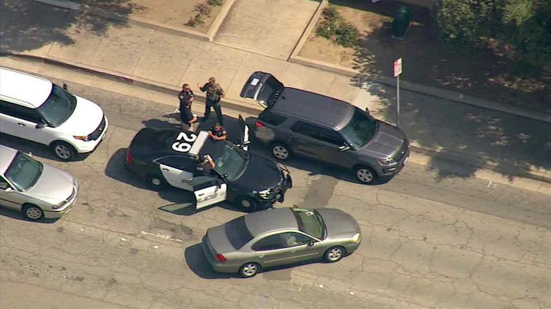 SWAT officers in standoff with Pomona stabbing suspect
