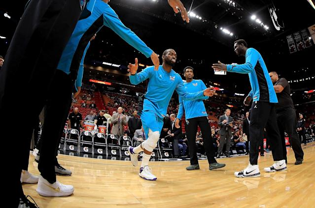 With question marks at backup point guard and Nicolas Batum injured, All-Star Kemba Walker will have to shoulder an even bigger load. (Getty)