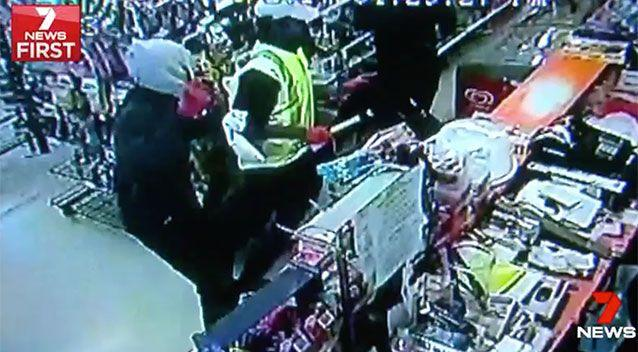 The gang raided four convenience stores armed with a hammer, a wheel brace and a metal pole. Source: 7 News