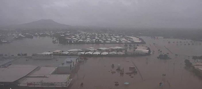 """Australia's military has been deployed to tackle devastating """"once-in-a-century"""" floods that have inundated homes in northeast Australia (AFP Photo/Queensland Fire and Emergency Services)"""