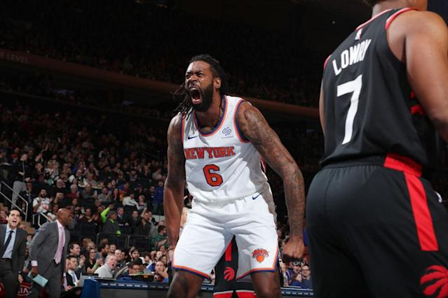 DeAndre Jordan is making the most of his new tenure as a Knick. (Photo by Nathaniel S. Butler/NBAE via Getty Images)