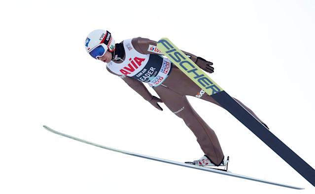 FIS Ski Jumping World Cup - Men's HS134 - Oslo, Norway - March 10, 2018. Kamil Stoch of Poland competes. NTB Scanpix/Terje Bendiksby via REUTERS ATTENTION EDITORS - THIS IMAGE WAS PROVIDED BY A THIRD PARTY. NORWAY OUT. NO COMMERCIAL OR EDITORIAL SALES IN NORWAY.