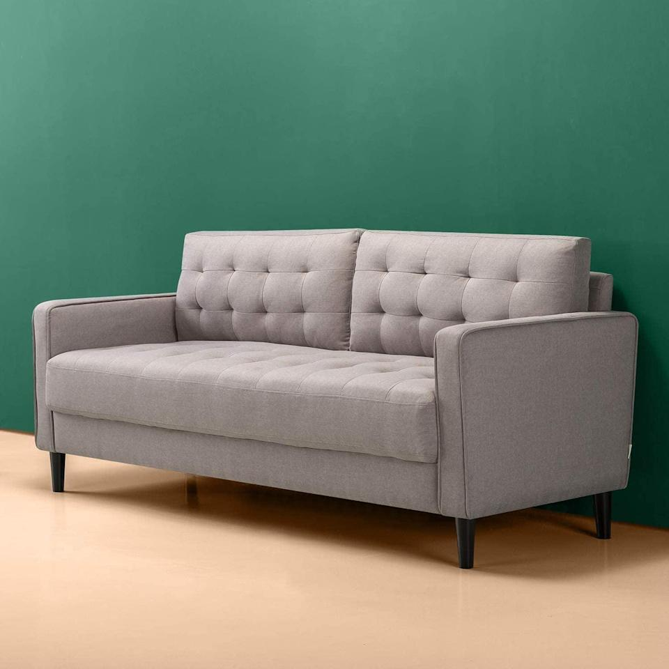 <p>You can't go wrong with this classic and comfortable <span>Zinus Benton Sofa</span> ($424).</p>
