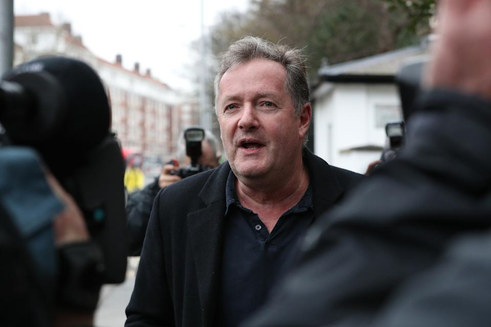 Piers Morgan has spoken outside his home about his departure from GMB. (PA)