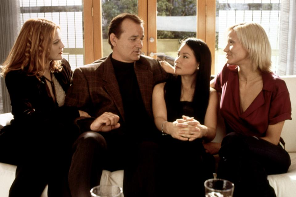 From left, Drew Barrymore, Bill Murray, Lucy Liu and Cameron Diaz star in the 2000 movie,