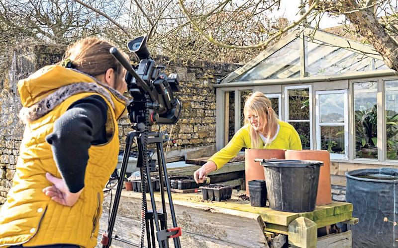 Bunny Guinness filiming for her YouTube channel - Andrew Crowley for the Telegraph