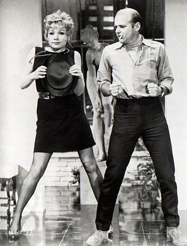 """Photo of Shirley MacLAINE and Bob FOSSE; with Shirley Maclaine on the set of """"Sweet Charity"""" (bGAB Archive/Redferns)"""