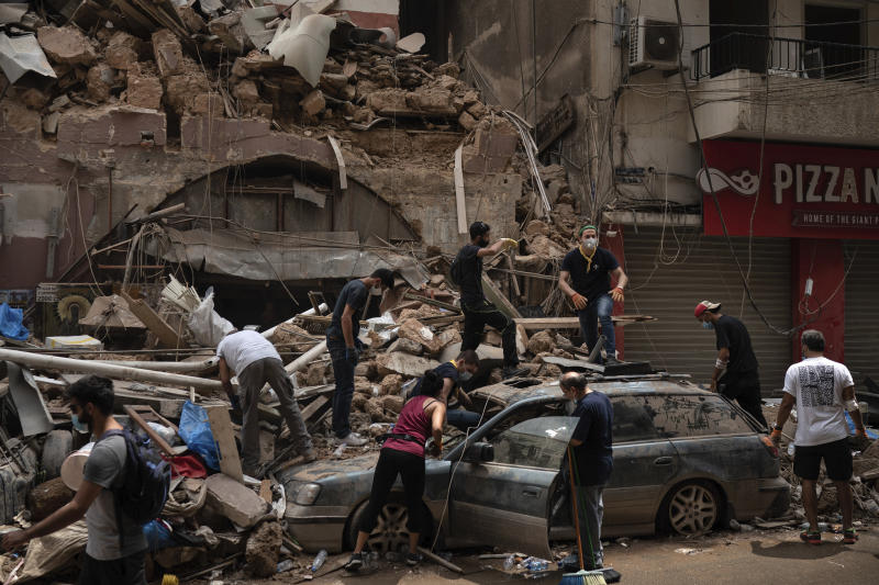 BEIRUT EXPLOSION SUFRIMIENTO