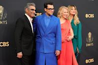 <p>Eugene Levy, Dan Levy, Catherine O'Hara and Annie Murphy</p>