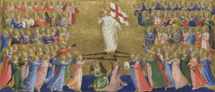 """<span class=""""caption"""">Christ Glorified in the Court of Heaven.</span> <span class=""""attribution""""><a class=""""link rapid-noclick-resp"""" href=""""https://commons.wikimedia.org/wiki/File:Beato_angelico,_predella_della_pala_di_fiesole_01.jpg"""" rel=""""nofollow noopener"""" target=""""_blank"""" data-ylk=""""slk:Fra Angelico"""">Fra Angelico</a></span>"""