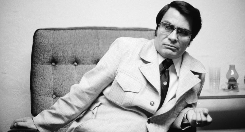 Jim Jones sitting in a chair. Source: Getty Images