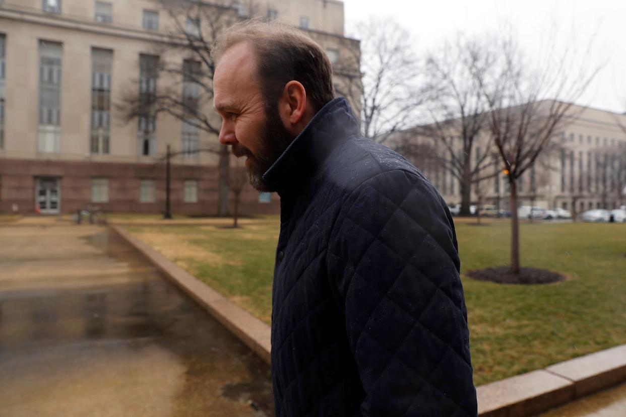 Rick Gates, the former deputy campaign manager for Donald Trump, will cooperate with Robert Mueller's investigation, The Los Angeles Times reported Sunday. (Photo: Aaron P. Bernstein via Getty Images)