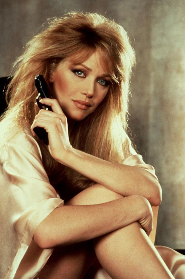 "STACEY SUTTON   MOVIE: <a href=""http://movies.yahoo.com/movie/1800132578/info"">A View to Kill</a>  ACTRESS: <a href=""http://movies.yahoo.com/movie/contributor/1800033202"">Tanya Roberts</a>  ALLEGIANCE: State of California  LAST SEEN: Bathing with Bond.  SPECIAL SKILLS: A trained geologist. Handy with a shotgun filled with sea salt. Also handy with a can of mousse."