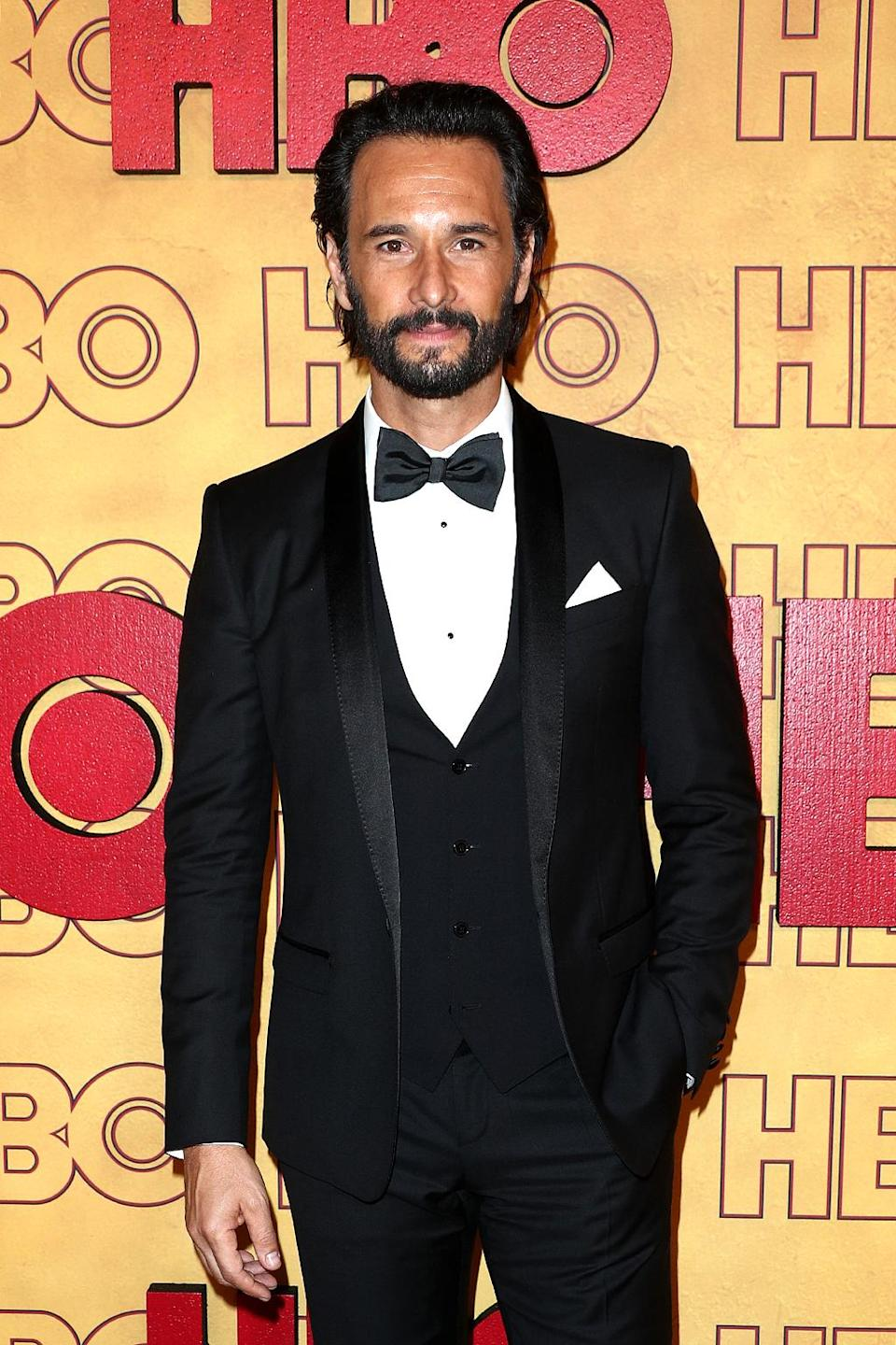<p><em>Westworld</em>'s Rodrigo Santoro at HBO's Post Emmy Awards Reception at te Plaza at the Pacific Design Center. (Photo: Frederick M. Brown/Getty Images) </p>