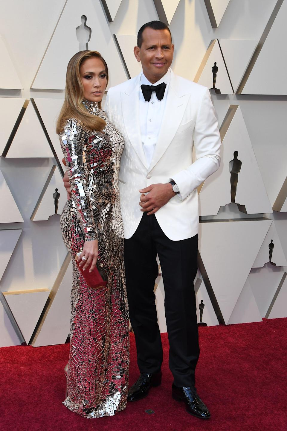 Jennifer Lopez and Alex Rodriguez both in Tom Ford