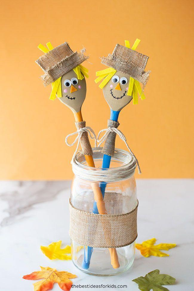 """<p>Once they turn these wooden spoons into friendly-faced scarecrows, they can use them as props to make story time more fun.</p><p><em><a href=""""https://www.thebestideasforkids.com/wooden-spoon-scarecrow/"""" rel=""""nofollow noopener"""" target=""""_blank"""" data-ylk=""""slk:Get the tutorial at The Best Ideas For Kids »"""" class=""""link rapid-noclick-resp"""">Get the tutorial at The Best Ideas For Kids »</a></em></p>"""