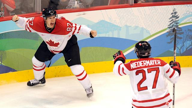 It's been 10 years since Sidney Crosby scored the most important goal in Canadian hockey history. (YURI KADOBNOV/AFP via Getty Images)